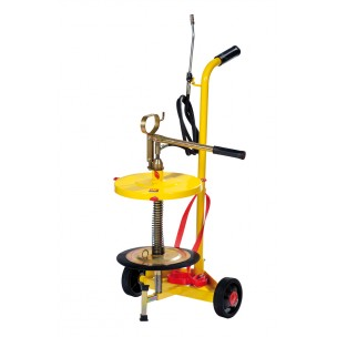 wheeled-manual-grease-pump-for-drums-of-18-30-kg